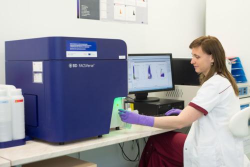 Flowcytometrické stanovenie CD34 znakov z pupočníkovej krvi a stanovenie vitality buniek